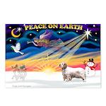 Xmas Sunrise - Clumber Spaniel Postcards (Pack