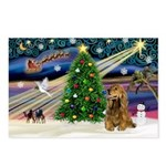 XmasMagic/Cocker (Brn) Postcards (Package of 8)