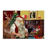 Santa's Buff Cocker Postcards (Package of 8)
