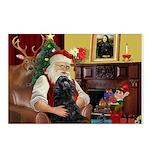 Santa's Black Cocker Postcards (Package of 8)