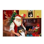 Santa's Collie (t) Postcards (Package of 8)