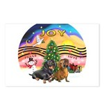 XMusic2-Two Dachshunds Postcards (Package of 8)