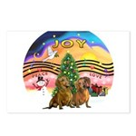 XMusic2-Two brown Dachshunds Postcards (Package of