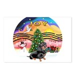 XMusic2-Dachshund 4 (BT) Postcards (Package of 8)