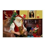 Santa's Dachshund (Br) Postcards (Package of 8)