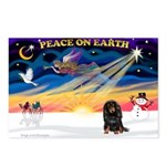 XmasSunrise/Dachshund (LH) Postcards (Package of 8