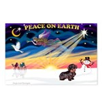 XmasSunrise/Dachshund (WH) Postcards (Package of 8