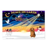 XmasSunrise/Dachshund LH Postcards (Package of 8)