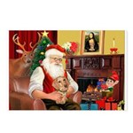Santa's Dachshund (WH) Postcards (Package of 8)
