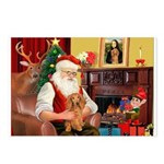 Santa's Dachshund (LH) Postcards (Package of 8)