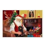 Santa's Dachshud (LH) Postcards (Package of 8)