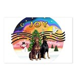 XMusic2-Two Dobermans (1 ea.) Postcards (Package o