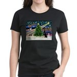 XmasMagic/Dobie (1) Women's Dark T-Shirt