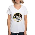 Night Flight/EBD #1 Women's V-Neck T-Shirt