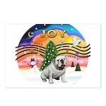 XMusic2-English Bulldog (W) Postcards (Package of