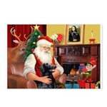 Santa's Flat Coat R Postcards (Package of 8)