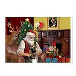 Santa's G-Shepherd (#2) Postcards (Package of 8)
