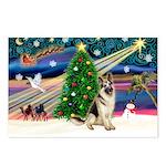 XmasMagic/German Shepherd Postcards (Package of 8)