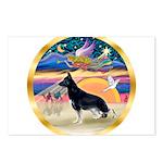 XmasStar/German Shepherd Postcards (Package of 8)