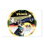 XmasDove/ German Shepherd Postcards (Package of 8)