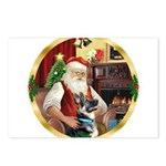 Santa's German Shepherd Postcards (Package of 8)