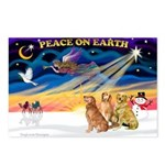XmasSunrise/3 Goldens Postcards (Package of 8)