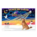 XmasSunrise/Golden 10 Postcards (Package of 8)