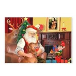 Santa's Golden (#3) Postcards (Package of 8)
