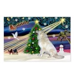 Santa's Great Pyrenees Postcards (Package of 8)