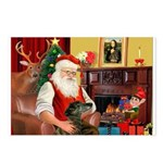 Santa's Greyhound Postcards (Package of 8)