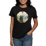 XmasMusic1MC/Greyhound Women's Dark T-Shirt