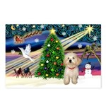 XmasMagic/Havanese pup Postcards (Package of 8)