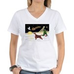 Night Flight/Irish Setter Women's V-Neck T-Shirt