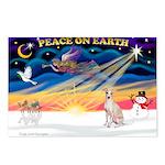 XmasSunrise/Ital Greyhound Postcards (Package of 8