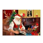 Santa's Ital.Greyt (6) Postcards (Package of 8)