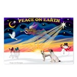 XmasSunrise/2 JRT Postcards (Package of 8)