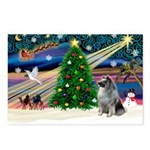 Xmas Magic & Keeshond Postcards (Package of 8)