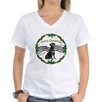 XmasMusic2/Lab (black) Women's V-Neck T-Shirt