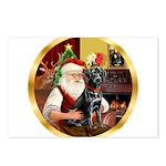 Santa's Lab (blk)#1 Postcards (Package of 8)