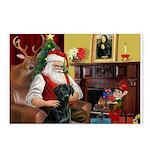 Santa's Black Lab Postcards (Package of 8)