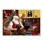 Santa's Chocolate Lab Postcards (Package of 8)