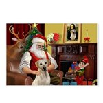 Santa's Yellow Lab #7 Postcards (Package of 8)