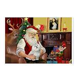 Santa's Maltese Postcards (Package of 8)