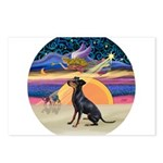 R - Xmas Star - Manchester Terrier Postcards (
