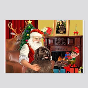 Santa's Newfoundland Postcards (Package of 8)