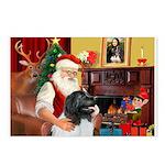 Santa's Newfie (L) Postcards (Package of 8)