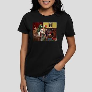 Santa's Norwegian Elk Women's Dark T-Shirt