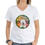 XmasMusic 3/OES #3 Women's V-Neck T-Shirt