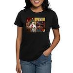 Santa's Old English #6 Women's Dark T-Shirt