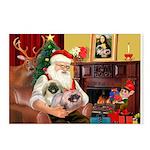 Santa's 2 Pekingese Postcards (Package of 8)